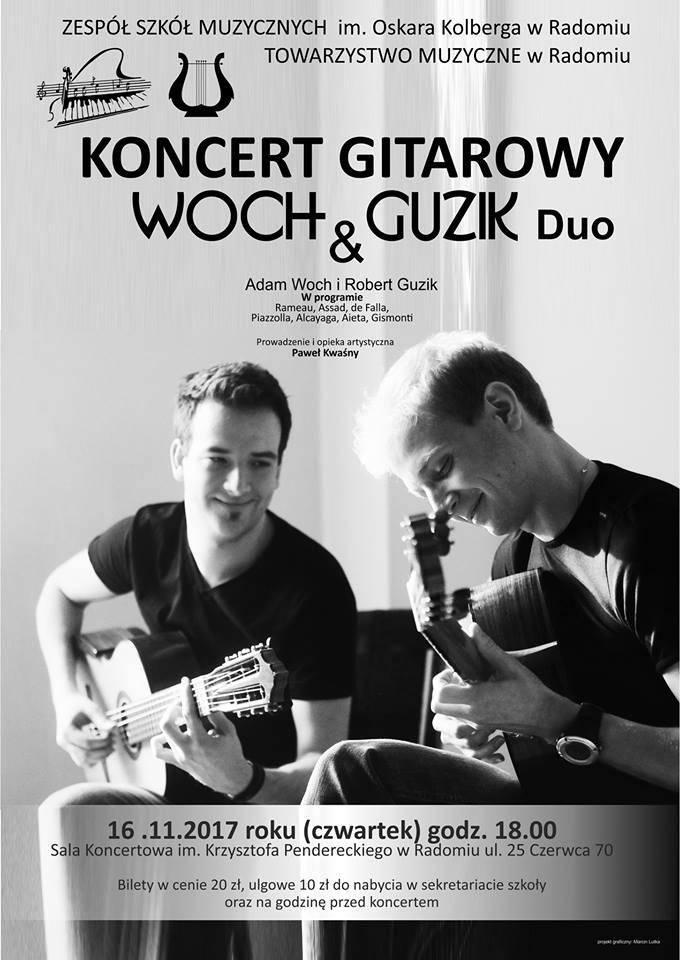 koncert gitarowy Woch & Guzik Duo Radom